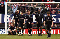 Photo: Chris Ratcliffe.<br />Charlton Athletic v Brentford. The FA Cup. 18/02/2006.<br />Brentford players know it may be the end of the road in the FA Cup.
