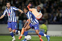 Fotball<br /> Frankrike<br /> Foto: Dppi/Digitalsport<br /> NORWAY ONLY<br /> <br /> FOOTBALL - CHAMPIONS LEAGUE 2007/2008 - GROUP STAGE - GROUP A - FC PORTO v OLYMPIQUE MARSEILLE - 06/11/2007 - BRUNO ALVES (POR) / DJIBRIL CISSE (OM)