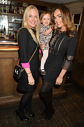 Left to right, ROSIE NIXON and TAMARA ECCLESTONE and her daughter SOPHIA at a party to celebrate the publication of The Stylist by Rosie Nixon held at Soho House, London on 10th February 2016.