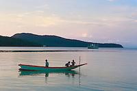 kids on a boat-Koh Rong Samloen Island-Cambodia