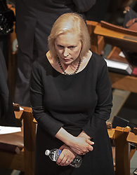 United States Senator Kirsten Gillibrand (Democrat of New York prior to the beginning of the funeral service for the late United States Senator John S. McCain, III (Republican of Arizona) at the Washington National Cathedral in Washington, DC, USA on Saturday, September 1, 2018. Photo by Ron Sachs/CNP/ABACAPRESS.COM