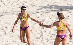 29.07.2017, Donauinsel, Wien, AUT, FIVB Beach Volleyball WM, Wien 2017, Damen, Gruppe A, im Bild v.l. Talita Antunes da Rocha (BRA), Larissa Franca (BRA) // f.l. Talita Antunes da Rocha of Brazil Larissa Franca of Brazil during the women's group A match of 2017 FIVB Beach Volleyball World Championships at the Donauinsel in Wien, Austria on 2017/07/29. EXPA Pictures © 2017, PhotoCredit: EXPA/ Sebastian Pucher
