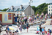 01/07/2014 Queue for ice cream in  the sunshine in Salthill Galway. Photo:Andrew Downes