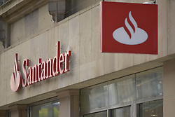 October 19, 2016 - Manchester, England, United Kingdom - A branch of Santander, a provider of mortgages for people purchasing property, trades on October 19, 2016 in Manchester, England. The United Kingdom's finance industry regulator, the Financial Conduct Authority, has announced a commitment to consult on mortgage payment shortfall remediation guidance. (Credit Image: © Jonathan Nicholson/NurPhoto via ZUMA Press)