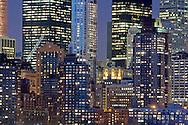 New York, New York CIty Building, Night, Lower Manahttan