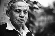 Portrait of Nguyen Dang Che, master artisant of Dong Ho village.