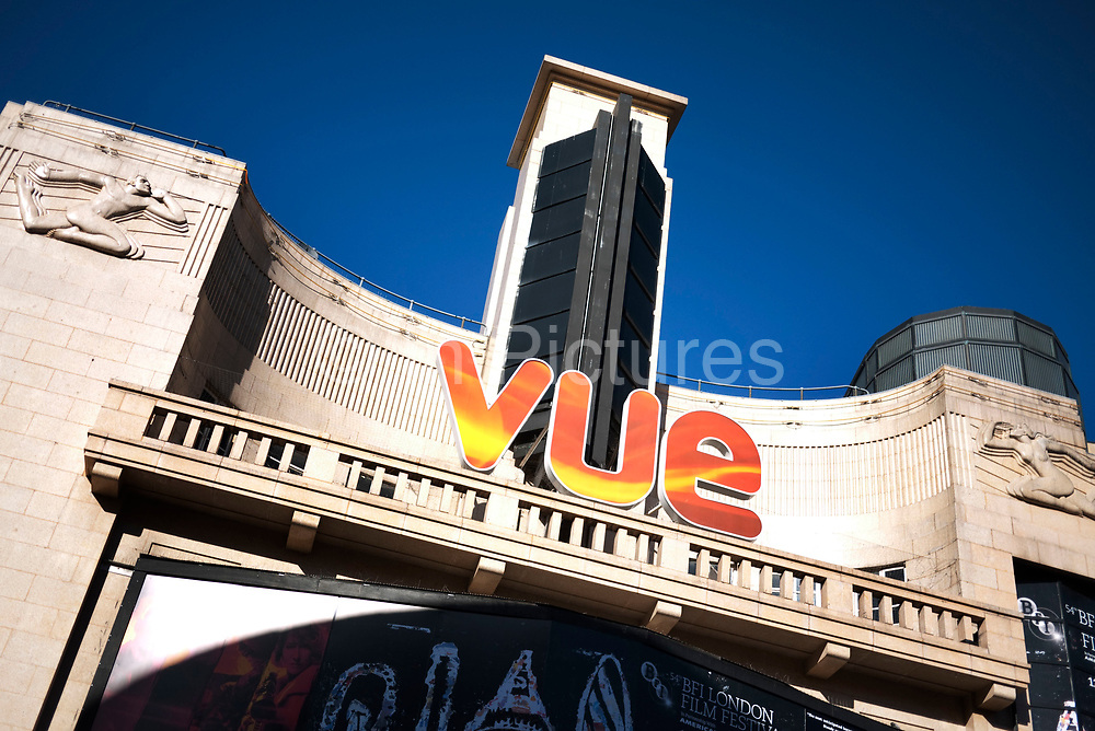 West End cinema in London's most famous place for cinemas and premieres, Leicester Square. The Vue.