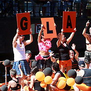 NLD/Amsterdam/20070804 - Gaypride Canalparade 2007, dutch gay and lesbian Atletics boot