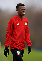 CARDIFF, WALES - Monday, November 19, 2018: Wales' Rabbi Matondo during a training session at the Vale Resort ahead of the International Friendly match between Albania and Wales. (Pic by David Rawcliffe/Propaganda)