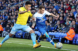 Peterborough United's Jon Taylor takes on Coventry City's Jordan Willis - Photo mandatory by-line: Joe Dent/JMP - Mobile: 07966 386802 - 28/03/2015 - SPORT - Football - Peterborough - ABAX Stadium - Peterborough United v Coventry City - Sky Bet League One
