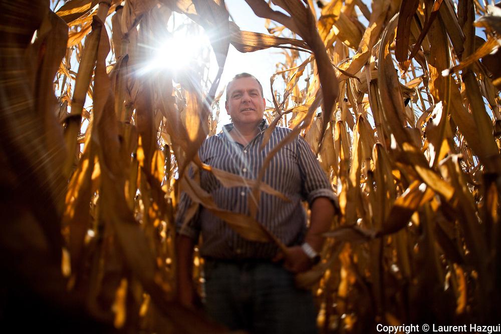 Octobre 2011. Agriculture dans les Alpes-de-Haute-Provence, autour de Forcalquier. Exploitation de Frédéric Esmiol à Mane.