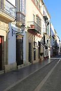 Housing street in Puerto de Santa Maria, Cadiz province, Spain