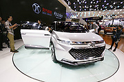 BEIJING, CHINA - APRIL 25: (CHINA OUT) <br /> <br /> A BAIC Motor vehicle is on display at the Beijing International Automotive Exhibition on April 25, 2016 in Beijing, China. <br /> ©Exclusivepix Media