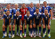 CHATTANOOGA, TN - AUGUST 19:  Team picture of the United States starters before a friendly match against Costa Rica at Finley Stadium on August 19, 2015 in Chattanooga, Tennessee.  (Photo by Mike Zarrilli/Getty Images)