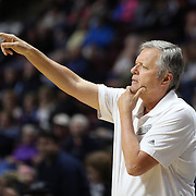 UNCASVILLE, CONNECTICUT- MAY 05:  Dan Hughes, San Antonio Stars head coach on the sideline during  the San Antonio Stars Vs Connecticut Sun preseason WNBA game at Mohegan Sun Arena on May 05, 2016 in Uncasville, Connecticut. (Photo by Tim Clayton/Corbis via Getty Images)