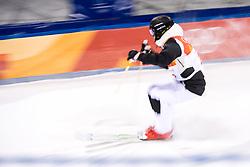 February 12, 2018 - Pyeongchang, SOUTH KOREA - 180212 Vinjar SlÃ¥tten of Norge competes in the men's moguls final during day three of the 2018 Winter Olympics on February 12, 2018 in Pyeongchang..Photo: Carl Sandin / BILDBYRÃ…N / kod CS / 57999_286 (Credit Image: © Carl Sandin/Bildbyran via ZUMA Press)
