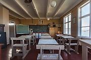 Flåvær is a small group of islets and rocks in Herøyfjord in the municipality Herøy, located in the county Sunnmøre at the west coast of Norway. It includes the island Flåvær, Husholmen, Torvholmen and Varholmen. The archipelago was inhabited until the mid 1980's. Here you see inside the old schoolhouse |<br /> Flåvær er en liten gruppe med holmer og skjær i Herøyfjorden i Herøy på Sunnmøre, og omfatter holmene Flåvær, Husholmen, Torvholmen og Varholmen. Øygruppa var bebodd til midt på 1980 tallet. Her ser dere inni det gamle skolehuset.
