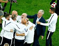Didier Deschamps (France) celebrates with the staff<br /> Saint Petersburg 10-07-2018 Football FIFA World Cup Russia  2018 Semifinal <br /> France - Belgium / Francia - Belgio <br /> Foto Matteo Ciambelli/Insidefoto