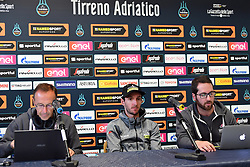 March 15, 2019 - Foligno, Perugia, Italia - Foto Gian Mattia D'Alberto / LaPresse.15/03/2019 Foligno (Italia) .Sport Ciclismo.Tirreno-Adriatico 2019 - edizione 54 - da Pomarance a Foligno  (226 km) .Nella foto:  Adam Yates GBR, maglia azzurra, in conferenza stampa..Photo Gian Mattia D'Alberto / LaPresse .March 15, 2018 Foligno (Italy).Sport Cycling.Tirreno-Adriatico 2019 - edition 54 - Pomarance to Foligno (140 miglia) .In the pic:  Adam Yates GBR, blue jersey, in the press conference (Credit Image: © Gian Mattia D'Alberto/Lapresse via ZUMA Press)