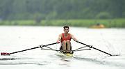 2002 FISA World Cup. Hazewinkel. BEL.       Friday  14/06/2002     .email images@Intersport-images.com.[Mandatory Credit: Peter Spurrier/Intersport Images]  .                                 /06/2002.Rowing    .M1X NED. Dirk LIPPETS Rowing, FISA WC.Hazenwinkel, BEL