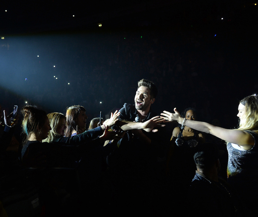 Ben Haenow,  Mobbed by Fans THE X FACTOR LIVE TOUR.Manchester Arena <br />Pix Dave Nelson