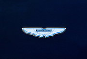 Aston Martin badge on a car