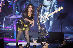 © Licensed to London News Pictures . 01/07/2017 . Manchester , UK . Rowetta Idah . Hacienda Classical play at the Castlefield Bowl as part of Sounds of the City , during the Manchester International Festival . A collaboration between DJs Mike Pickering and Graeme Park and the Manchester Camerata orchestra , Hacienda Classical reworks music by bands including the Happy Mondays and New Order and features Manchester musicians including Rowetta and Peter Hook . Photo credit : Joel Goodman/LNP