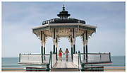 A Victorian grade II listed bandstand dating back to 1884 captured for Historic England during Brighton Pride, 2018