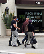Hugh Jackman with wife Deborra-Lee Furness and friends..Hugh Jackman with wife Deborra-Lee Furness and friends had breakfast at Urth Café, then went shopping at Alpha Store on Melrose Avenue..West Hollywood, CA, USA..Saturday, October 23, 2010..Photo ByiSnaper.com/ CelebrityVibe.com.To license this image please call (212) 410 5354; or Email:CelebrityVibe@gmail.com ;.website: www.CelebrityVibe.com.
