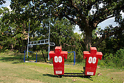 The football field at the Prime Prep Academy campus in Dallas, Texas on August 5, 2014. (Cooper Neill for The New York Times)