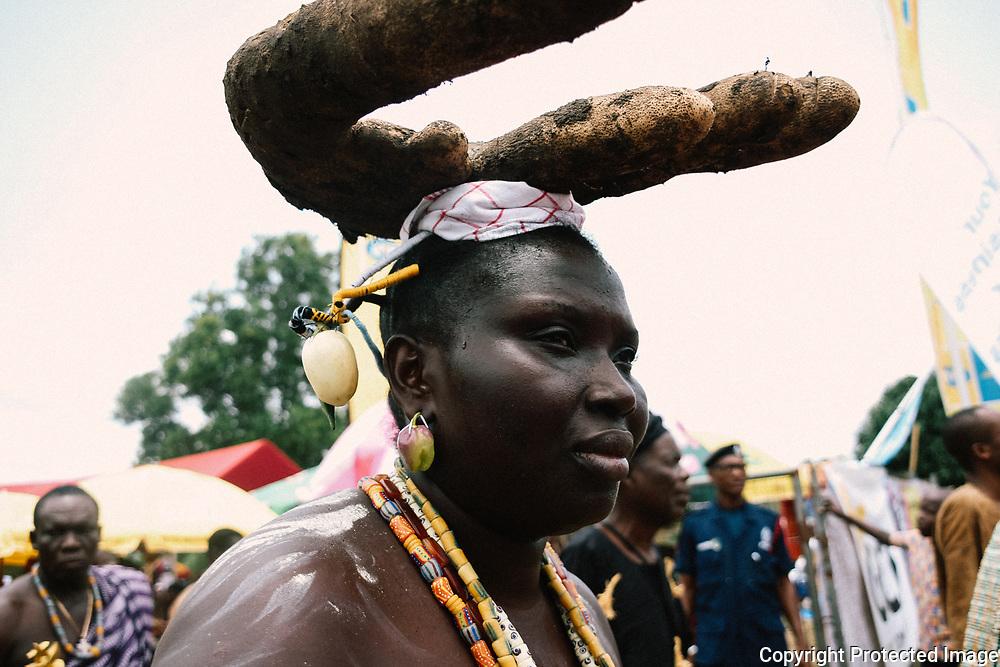 Portrait at Yam Festival by Antoinette Dumegah