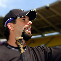 21 July 2007:  Colorado Rockies first baseman Todd Helton (17) signs autographs for fans prior to the game against the Washington Nationals.  The Nationals defeated the Rockies 3-0 at RFK Stadium in Washington, D.C.  ****For Editorial Use Only****