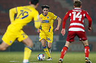 George Dobson of AFC Wimbledon during the EFL Sky Bet League 1 match between Doncaster Rovers and AFC Wimbledon at the Keepmoat Stadium, Doncaster, England on 26 January 2021.