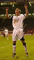 Photo: Aidan Ellis.<br /> Sheffield United v Swansea City. The FA Cup. 06/01/2007.<br /> swansea's Thomas Butler celebrtaes scoring the second goal