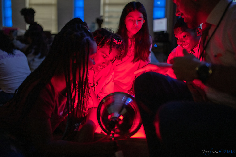 Students engage in science activities at Fairview Elementary School in High Point, N.C. on Tuesday, October 8, 2019. <br /> <br /> Photographed, Tuesday, October 8, 2019, in Greensboro, N.C. JERRY WOLFORD and SCOTT MUTHERSBAUGH / Perfecta Visuals