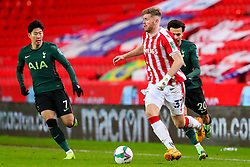 Nathan Collins of Stoke City cuts in from the left flank - Mandatory by-line: Nick Browning/JMP - 23/12/2020 - FOOTBALL - Bet365 Stadium - Stoke-on-Trent, England - Stoke City v Tottenham Hotspur - Carabao Cup
