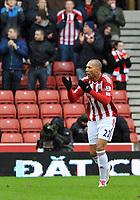 Fotball<br /> England<br /> Foto: Fotosports/Digitalsport<br /> NORWAY ONLY<br /> <br /> Stoke City v Sunderland Premiership 05.02.11<br /> <br /> John Carew Stoke City celebrates his 1st goal for the club