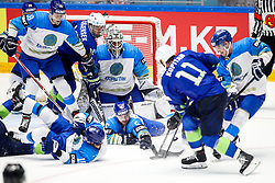 Ken Ograjensek of Slovenia, Henrik Karlsson of Kazakhstan, Leonid Metalnikov of Kazakhstan and Anze Kopitar of Slovenia during ice hockey match between Slovenia and Kazakhstan at IIHF World Championship DIV. I Group A Kazakhstan 2019, on April 29, 2019 in Barys Arena, Nur-Sultan, Kazakhstan. Photo by Matic Klansek Velej / Sportida