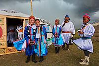 Mongolie, province de Uvs, région de l'ouest, nomades dans la steppe, mariage de l'ethnie Dorvod // Mongolia, Uvs province, western Mongolia, nomads in the steppe, wedding festival, Dorvod ethnic group