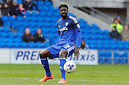 Bruno Ecuele Manga of Cardiff city in action. Skybet football league championship match, Cardiff city v Ipswich Town at the Cardiff city stadium in Cardiff, South Wales on Saturday 12th March 2016.<br /> pic by Carl Robertson, Andrew Orchard sports photography.