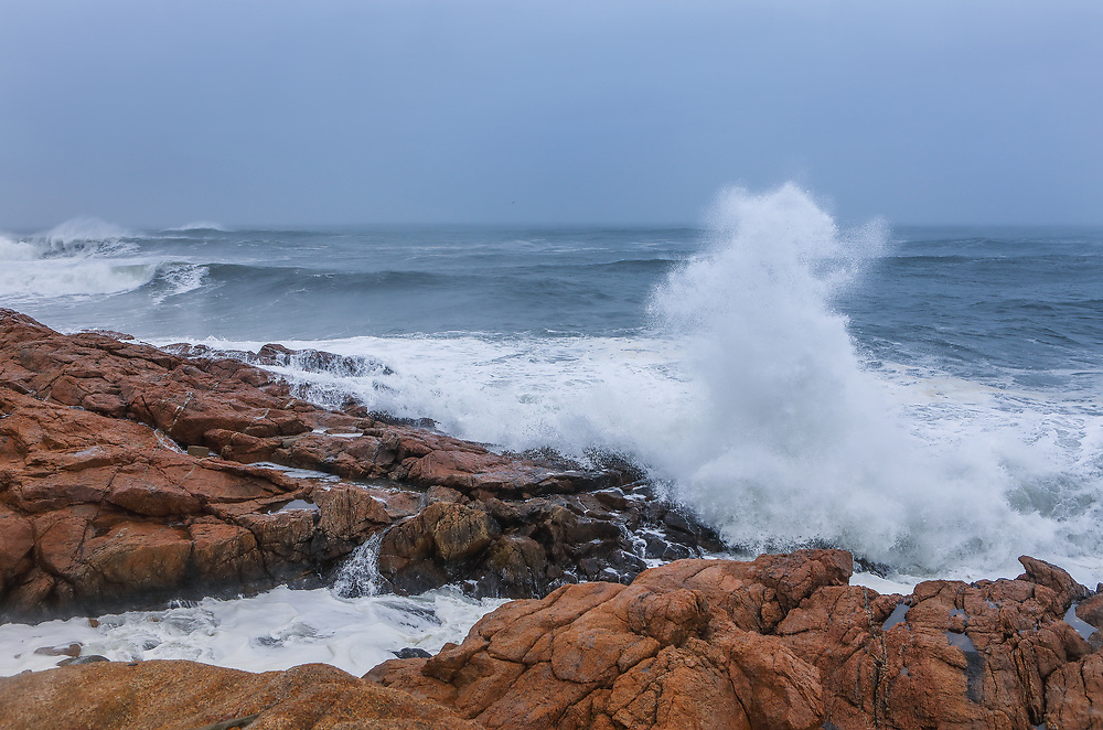 New England seascape photography of coastal Massachusetts where waves pounding and smashing into the seacoast of Cape Ann near Gloucester on Cape Ann.<br /> <br /> Massachusetts Cape Ann winter storm photography images are available as museum quality photo, canvas, acrylic, wood or metal prints. Wall art prints may be framed and matted to the individual liking and interior design decoration needs:<br /> <br /> https://juergen-roth.pixels.com/featured/massachusetts-cape-ann-winter-storm-splash-juergen-roth.html<br /> <br /> Good light and happy photo making!<br /> <br /> My best,<br /> <br /> Juergen