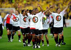 27-04-2008 VOETBAL: KNVB BEKERFINALE FEYENOORD - RODA JC: ROTTERDAM <br /> Feyenoord wint de KNVB beker - Andre Bahia en Serginho Greene<br /> ©2008-WWW.FOTOHOOGENDOORN.NL