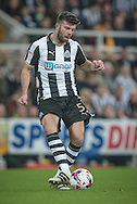 Grant Hanley (Newcastle United) during the EFL Cup 4th round match between Newcastle United and Preston North End at St. James's Park, Newcastle, England on 25 October 2016. Photo by Mark P Doherty.