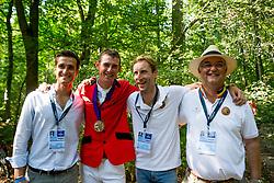 Philippaerts Olivier, Verlooy Jos, Devos Pieter, Weinberg Peter, <br /> EC Rotterdam 2019<br /> © Hippo Foto - Sharon Vandeput<br /> 25/08/19