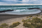 Breakwater at Skagen beach windy late autumn day, Denmark Ⓒ Davis Ulands   davisulands.com