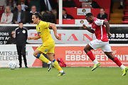 AFC Wimbledon striker Egli Kaja (21) dribbling forward on the attack during the Pre-Season Friendly match between Ebbsfleet and AFC Wimbledon at Stonebridge Road, Ebsfleet, United Kingdom on 29 July 2017. Photo by Matthew Redman.