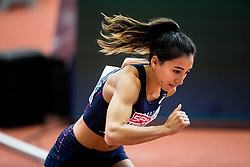 Agnes Raharolahy of France competes in the Women's 400 metres heats on day one of the 2017 European Athletics Indoor Championships at the Kombank Arena on March 3, 2017 in Belgrade, Serbia. Photo by Vid Ponikvar / Sportida