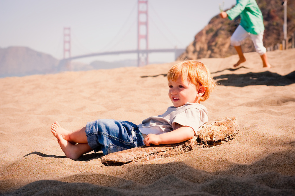 Family portraits of Viard family at Baker Beach, San Francisco, CA...Photo by Mark Tantrum.