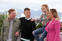 Kris Hitchen, Rhys Stone, Katie Proctor and Debbie Honeywood at Sorry We Missed You film photo call at the 72nd Cannes Film Festival, Friday 17th May 2019, Cannes, France. Photo credit: Doreen Kennedy