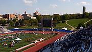 General view of Memorial Stadium during the 79th Kansas Relays in Lawrence, Kansas on Saturday, April 22, 2006.
